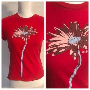 Ladies Abercrombie & Fitch Flower Tee